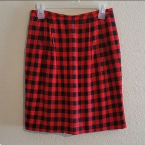 Vintage Buffalo Plaid pencil skirt